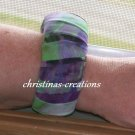 Recycled Scarf material Bracelet