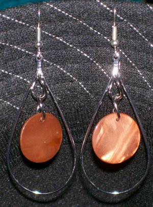 Brown Mother of Pearl Earrings