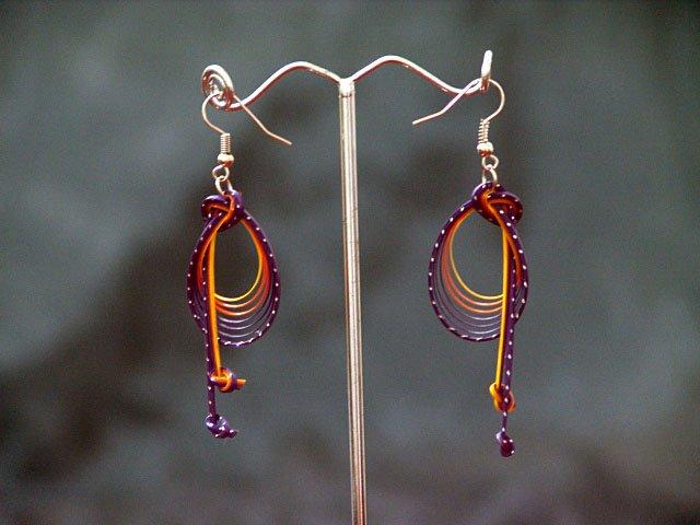 Colourful 'Music Notes' Handmade Hoop Gypsy Boho Hippie Earrings