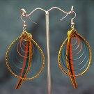 Colourful 'Oval Spiral' Handmade Hoop Gypsy Boho Hippie Earrings