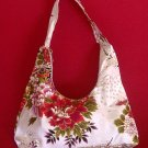 WHITE SMALL BOHO SAKURA FLORAL SHOULDER HANDBAG PURSE