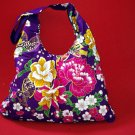 Royal Purple BOHO KIMONO FLORAL STRAP SHOULDER HANDBAG