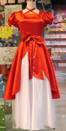 Lolita cosplay dress red