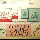 Vintage 1950's McCalls Sewing Pattern 447 Embroidery Transfers Pattern CUT