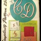 Vintage 1940's Simplicity Sewing Pattern 4042 Script Alphabet Embroidery Transfers One Size CUT