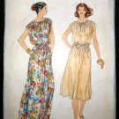 Vintage 1970's Vogue Sewing Pattern 7082 Womens Flared Dress Long or Short Size 16 CUT