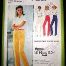 Vintage 1970's Simplicity Sewing Stretch Knit Pattern 9267 Womens Pants Plus Size U 16 18 20 CUT