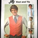 Vintage 1970's Simplicity Mens Jiffy Sewing Pattern 7701 Vest Neck Tie Ties Size 44 UNCUT
