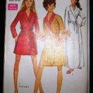 Vintage 1960's Simplicity 7930 Housecoat Robe Tie Front 3 Lengths Size 16 - 18 UNCUT