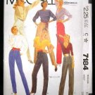 Vintage 1980's McCalls Sewing Pattern 7184 Pants Slacks Size 16