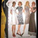 Vintage 1970's McCalls Easy Knits Sewing Pattern 3134 Long or Short Dress Plus Size 16 1/2 CUT