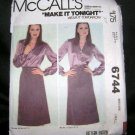 Vintage 1970's McCalls Sewing Pattern 6744 Wrap Skirt Size Small UNCUT