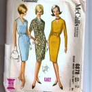 Vintage 60's McCalls Quickie Sewing Pattern 6878 Dress Short Long Sleeveless Size 12 UNCUT