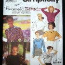 1990's Simplicity Easy to Sew Sewing Pattern 7518 Blouse Plus Size Y 18 - 22 UNCUT