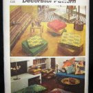 Vintage Hippie 1970's Simplicity Sewing Craft Pattern 5718 Box Edge Knife Edge Pillow Pillows UNCUT