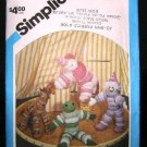 Vintage 1980's Simplicity Sewing Craft Pattern 6483 Puff Circle Animal and Clown Doll UNCUT