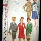 Vintage 1960's Simplicity Sewing Pattern 5628 Suit Skirt Jacket Size 12 CUT