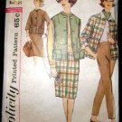Vintage 1960's Simplicity Slenderette Sewing Pattern 4098 Jacket Pants Skirt Size 14 CUT