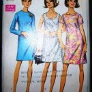 Vintage Simplicity Sewing Pattern 7696 Long Short Sleeve Dress in 3 Styles Plus Size 20 1/2 UNCUT
