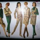 Vintage 1960's Simplicity Sewing Pattrn 6636 Jacket Top Skirt Slacks Size 12 UNCUT