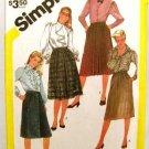 Vintage 1980's Simplicity Sewing Pattern 6128 Skirt Plus Size 16 1/2 thru 20 1/2 UNCUT