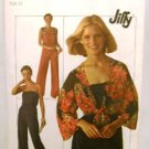 Vintage 1970's Simplicity Jiffy Sewing Pattern 7748 Sleeveless Jumpsuit Jacket Size 10 UNCUT