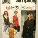1990's Simplicity Sewing Pattern 9205, 2 Hour Vest Size 12 14 16 UNCUT