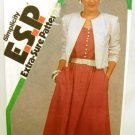 Vintage 1980's Simplicity ESP Sewing Pattern 6292 Dress Jacket Sash Plus Size 16 18 20 UNCUT