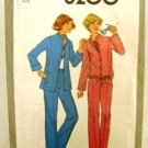 Vintage 1970's Simplicity Sewing Pattern 8200 Jacket Pants 2 Styles Size 10 UNCUT