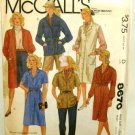 Vintage 1980's McCalls Sewing Pattern 8670 Coat Dress Shirt Jacket Jumper Tie Belt Size 6 - 8 UNCUT