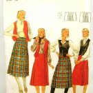 Vintage 1970's Butterick Sewing Pattern 5528 Long Short Skirt Vest Size 10 UNCUT