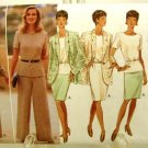 Vintage 1990's Butterick Sewing Pattern 4030 Skirt Pants Jacket Top Plus Size 18 20 22 UNCUT