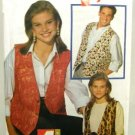 Vintage 1990's Butterick Sewing Pattern 6497 Fast & Easy Vest Unisex Mens or Womans All Sizes UNCUT