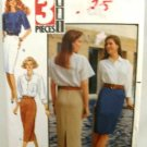 Vintage 1990's Butterick Sewing Pattern 4869 Skirt Misses and Misses Petite Size 12 14 16 UNCUT