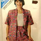 Vintage 1980's Butterick See & Sew Sewing Pattern 4184 Shirt Top Shorts Size A 6-14 UNCUT