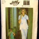1970's Vintage Simplicity Sewing Pattern 6964 Zip Front Uniform Dress Top Pants Size 12 CUT