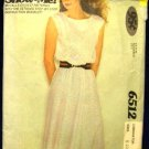1970's Vintage McCalls Show Me Sewing Pattern 6512 Sleeveless Dress Size 8 10 12 CUT