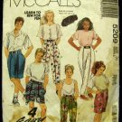 Vintage 1990's McCalls Sewing Pattern 5209 Boys Girls Unisex Rap Pant Pants Shorts Size 7 Small CUT