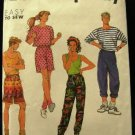 Vintage 90's Simplicity Sewing Pattern 7344 Unisex Tank Top Pants Shorts Size x small - x large CUT