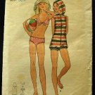 Vintage 70's Butterick Sewing Pattern 6220 Teen Girls Bathing Swim Suit Jumpsuit Size 9 - 10 CUT