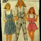 Vintage 1980's Butterick Sewing Pattern 3917 Girls Jumper Jumpsuit Size 12 - 14 CUT