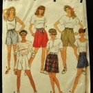 Vintage 90's Simplicity Sewing Pattern 7845 Misses Shorts 6 styles Size NN 10 - 16 CUT