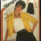 1980's Vintage Simplicity Sewing Pattern 5836 Dress and Jacket Size 10 - 12 - 14 CUT