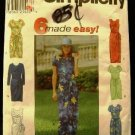90's Simplicity 6 Made Easy Sewing Pattern 8070 Front or Side Tie Hawaiian Dress Size 6 - 10 CUT