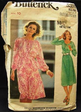 Vintage 70's Butterick Matti of Lynne Sewing Pattern 5391 Dress Top Skirt Belt Size 10 CUT