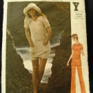 Vintage 1970's Butterick Sewing Pattern 6255 Top Pants Shorts Size 8 CUT
