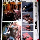 Vintage 80's McCalls Sewing Craft Pattern 8294 Needlecraft Accessories Knitting Crochet Bag UNCUT