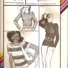 1979 Stretch and Sew Sewing Pattern 310 Long or Short Sleeve T-shirt Size 28 30 32 34 36 38 40 42 44