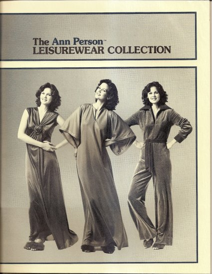 1978 Stretch and Sew Ann Person Leisurewear Collection Catalog with Helpful Sewing Tips