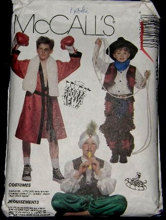 McCalls Costume Sewing Pattern 4461 Boxer Cowboy Pirate Karate Soldier Boys Size Large 10 - 12 CUT